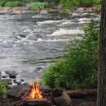 Camp at Red Pine Rapids, Dumoine River